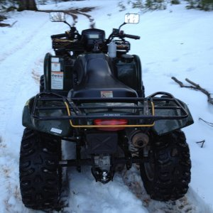Vinson in the snow with the new Bearclaw HTRs